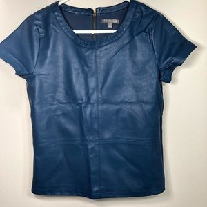 Tinley Road Blue faux leather